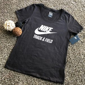 Nike The Tee Dark Brown Women's Shirt Size L New